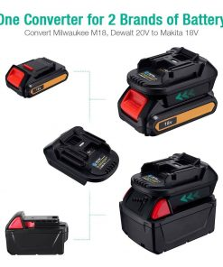 Portable Battery Adapter Makita Tools Li-Ion For Milwaukee And Dewalt 18V AU
