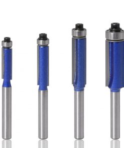 """4pcs 1/4"""" Shank Flush Trim Router Bits for wood Trimming Cutters with bearing woodworking tool endmill milling cutter"""